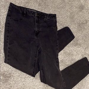 American eagle high rise skinny black jeans
